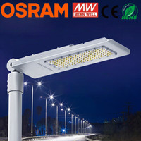 Wholesale LED Street Light W Garden Light Outdoor Lighting Fixture LED Streetlight Road Lamp Waterproof IP65 AC100 V CREE Mean WELL Driver DHL
