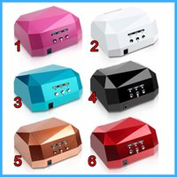 Wholesale Fashion CCFL W LED Light Diamond Shaped Best Curing Nail Dryer Nail Art Lamp Care Machine for UV Gel Nail Polish