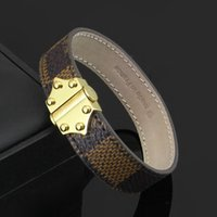 bangles pattern - Pattern Genuine Leather Charm Bracelets Bangles For Women Top LStainless Steel K Yellow Gold Plated New Luxury Fashion Jewelry Hot sale