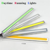 Wholesale Aluminum Silver cm LED Daytime Running lights Waterproof COB Daylight Car Auto Bar Bulb Source DRL Driving Fog lamp