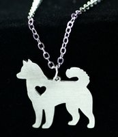 alaskan animals - The new European and American popular Alaskan Malamute necklace animal necklace Korean foreign trade jewelry Stainless steel Animal necklace