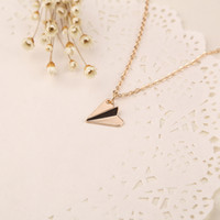airplane necklaces - British paper airplane necklace one direction Pendant new European and American popular jewelry alloy new