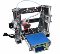 Wholesale 2016 Brand High quality Precision Reprap i3 DIY D Printer Kit with Rolls Filament Filament Full Acrylic Frame Multi Material