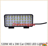 Wholesale 4 Pieces W x W Car CREE LED Light Bar as Work light Flood Light Spot Light for Boating Hunting Fishing CW120W