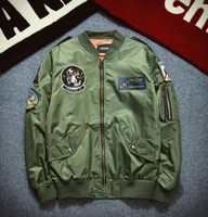 baseball card sleeves - Fall Winter MA1 US Air Force flight that was embroidered badge men standing collar jacket baseball uniform tide card