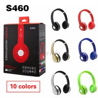 Wholesale Cheapest S460 Bluetooth Headphones STEREO Headphone S460 wireless On ear Headsets Earphones MP3 TF card microphone headphones DHL Free
