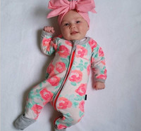 Wholesale Ins Burst Roses Printed Cotton Bbaby Clothes