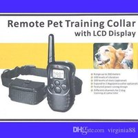 Wholesale 100 levels Static Vibration M Remote Pet Dog Training Collar freeshipping