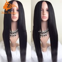 best hair glue - Best Brazilian Full Lace Human Hair Wigs Silky Straight Human Hair Lace Front Wigs Glue less Lace Wig