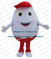 alive birds - Alive White Chicken Eggs Shell Egg Henapple Bird Egg Mascot Costume Cartoon Character Mascotte Great Eyes ZZ1302