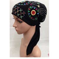 arab head wear - Fashion Muslim Women Hijabs Muslic Ladies Scarf Hijab Islamic Turban Head Wear Cover Hat Shawls Arab Women Scarfs Black