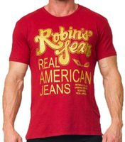 best mens tee shirts - Mens Robin jeans t shirts top Best quality real American jeans shirt for men cotton summer t shirts tees robin jeans clothing M XXXL