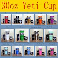Wholesale 14 Colors oz Yeti Rambler Tumbler Cup Coolers Powder Coated Bilayer Vacuum Insulation Cup Yeti Tumbler Mug vStainless Steel Cup