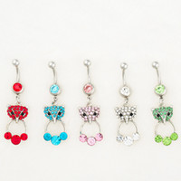 bell fox - 0526 MIX colors styl belly ring belly ring style newly fox style Rings Body Piercing Jewelry Dangle Accessories Fashion Charm