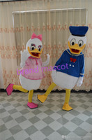 Wholesale The most popular Christmas Halloween Donald Duck Daisy Duck costumes for Halloween party supplies adult size mascot