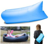 Wholesale 4 Color Convenient Inflatable Lounger Ripstop Nylon Fabric Sleeping Air Bag Hangout Bean Bag Portable Chair Air Bed Free DHL E676L