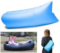 Wholesale 4 Color Convenient Inflatable Lounger Ripstop Nylon Fabric Sleeping Air Bag Hangout Bean Bag Portable Chair Air Bed Free DHL E676L