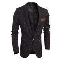 Wholesale 2016 High Quality Designer Men Blazer Men s Casual Slim Checkered Suits Single Button Wedding Blazer Fashion Mens Burgundy Blazer Outwear