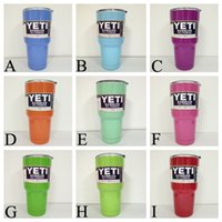 Wholesale Yeti Coolers cups oz powder Coated stainless steel YETI Rambler Tumbler Travel Vehicle Beer Mug Bilayer Vacuum Insulated cup cooler oz