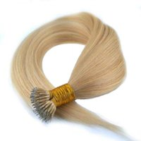 cold fusion hair extensions - 14inch inch g s s Brazilian Nano Ring Hair Cold Fusion Honey Blonde Color Keratin Tip Pre bonded Hair Extension