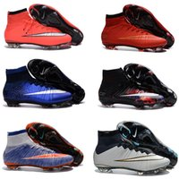 Wholesale 2016 Mercurial Superfly CR7 FG Mens Soccer Shoes Hot Sale Magista Obra Soccer Cleats Outdoor s League Football Boots Hypervenom II