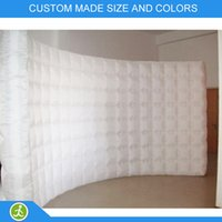 Wholesale YIJIA brand customize size colorful inflatable led wall