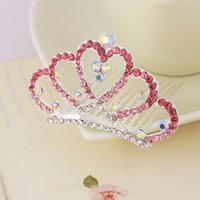 Wholesale Wedding Hair Tiara Crown Princess Fashionable Jewelry Party Crystal Woman Girl Sliver Filled Rhinestone Accessories
