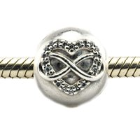 angels clips - Fits for Pandora Bracelet Original Sterling Silver clip beads Infinity Heart Clip with clear CZ new Autumen jewelry PC