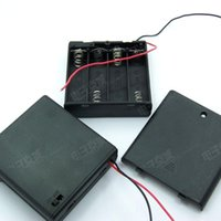 Wholesale High Quality Brand New x AA A Battery Holder Box V Case W lead ON OFF Switch Enclosed Box Snap On