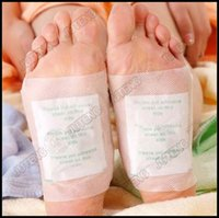 Wholesale Retail box Boxes Cleansing Detox Foot Kinoki Pads Cleanse Energize Your Body Set Box Patches Tape DHL