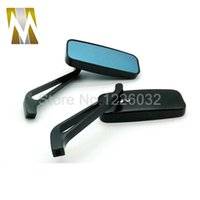 Wholesale Black Alloy Motorcycle Rear View Mirrors For Harley HondaYamaha mm mm Screw rearview mirror