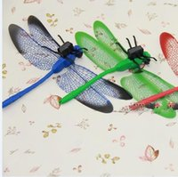 Wholesale Big Dragonfly Magnetic Darning Needle Refrigerator Stickers Pin Plastic Dragonfly For Toys cm
