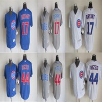 Wholesale 17 Kris Bryant Jersey Anthony Rizzo Jersey Chicago Cubs Jersey Cool Base Jersey Cheap Baseball Sport Jerseys Color White stripe blue grey