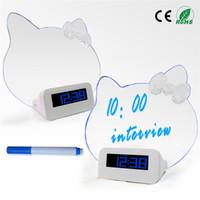 Wholesale Message Board Clock Alarm LED Clock big screen romantic fluorescence lazy mute Alarm clock