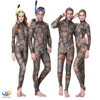 adult skin rashes - UPF50 Camouflage Snorkeling Dive Skin Adult Rash Guards One piece With Hood Jump Stinger Suit Men Women Wetsuit