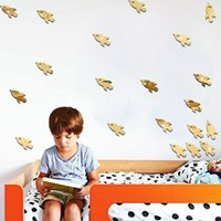 Wholesale 96pcs Spacecraft rocket design mirror stickers kids room living room bedroom TV sofa background decoration mirror wall stickers