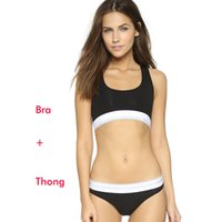 Wholesale New Brand sports bra sets no rims sports brassiere lingerie bra bikini briefs Women underwear running Brief Sets