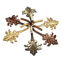 Wholesale 3 Colors Gold Cooper Green Bronze Zinc Alloy A Pair of Maple Leaf Curtain Tie Backs Tiebacks Holders Wall Hooks