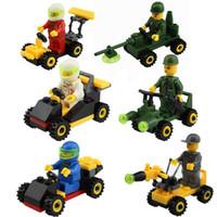 Wholesale 120pcs minifigure Enlighten Educational Kids building Blocks DIY Assembles Particles Bricks block cars for kids toys