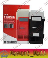 Wholesale DY348 MINI Portable USB PC Fridge Car Refrigerator Heater Beer Juice Warmer Cooler with LED Indicator In Stock