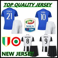 Wholesale Thai Quality custom Adult Kits Juventus Home Away Uniform Rugby Jerseys HIGUAIN POGBA DYBALA PJANIC MARCHISIO