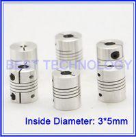 ball screw shaft - stepper motor and ball screw CNC Diameter mm Length mm Flexible Shaft Coupling X mm coupler Clamp
