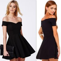 Wholesale Little Back Cocktail Dresses Mini Off The Shoulder Chiffon Short Prom Gowns Sexy Homecoming Dress For Girls