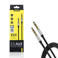Wholesale REMAX mm AUX Audio ft ft Cable Male to Male for Apple Android Smartphone and car stereo