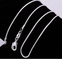 Wholesale 102pcs silver smooth snake chains Necklace MM snake chain mixed size inch hot sale BY779