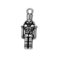 antique nutcracker - Religious Nutcracker Charm the antique silver custom Making
