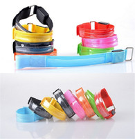Wholesale New LED Flashing Armbands Warning Safety Wrist Straps support Sports Armbands for Sports Wrists B0334
