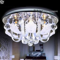 artistic lighting fixtures - Round ceiling lights crystal lamps bedroom modern minimalist fashion artistic LED lighting fixtures Resta urant lights Stainless Steel