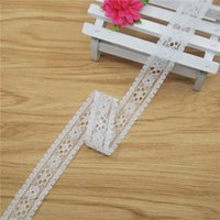 Wholesale Top Flower Lace trim mm white Lace Fabric Trim Gorgeous Cheap Lace Ribbon DIY Packing Trims Garment Accessories yard L706