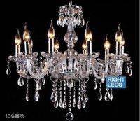 Wholesale free ship Wooden packaging Noble Luxurious Export K9 Clear Crystal Chandelier Arms Optional Lustres Cristal droplight